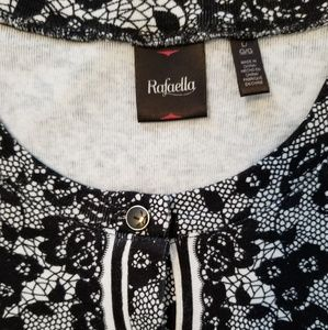 Rafaella Tops - Rafaella Button Down Floral 3/4 Sleeves Cardigan